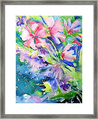 Pink Lavatera Profusion Framed Print by Trudi Doyle