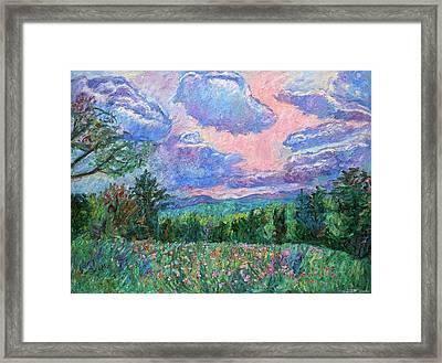 Pink Light Framed Print by Kendall Kessler