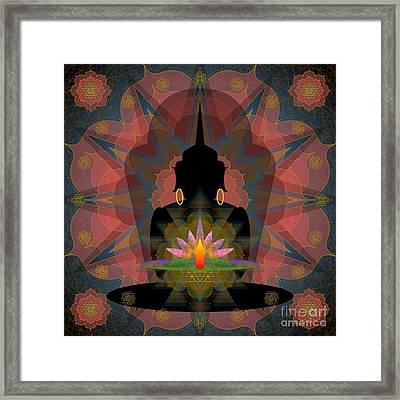 Pink Lotus Buddha Framed Print