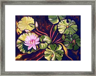 Pink Lotus Flower Framed Print