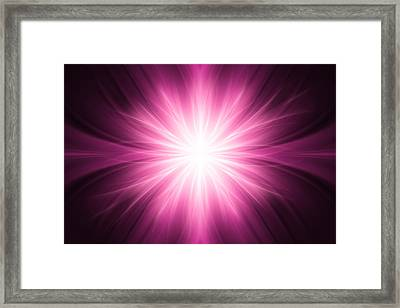 Pink Luminous Rays Background Framed Print by Somkiet Chanumporn