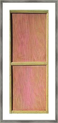 Pink Mahogany Blush Cabinet Door Framed Print