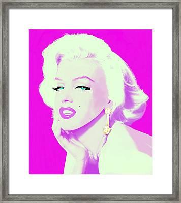 Pink Marilyn  Framed Print