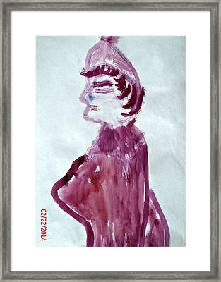 Pink Marm Framed Print