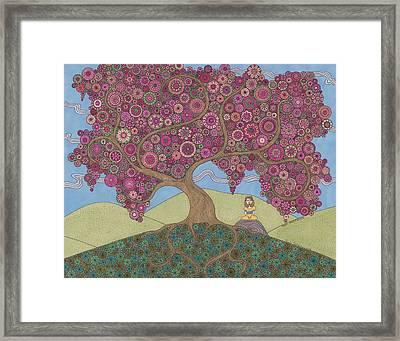 Pink Meditation Framed Print
