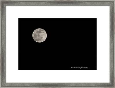 Pink Moon Framed Print