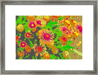 Framed Print featuring the photograph Pink Orange Flowers by Suzanne Powers