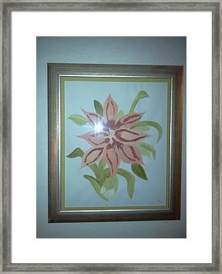 Pink Orchid Framed Print by Karen Jensen