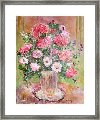 Pink Parfait Framed Print by Mary Spyridon Thompson