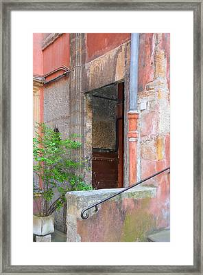 Pink Patina In Old Lyon Framed Print by Carla Parris
