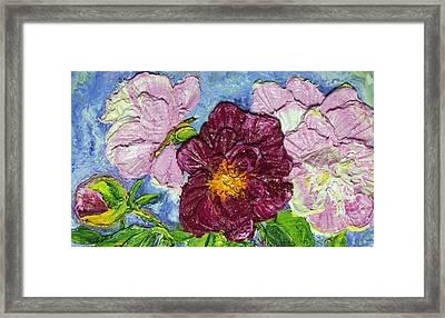 Pink Peonies Framed Print by Paris Wyatt Llanso