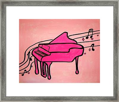 Pink Piano Framed Print