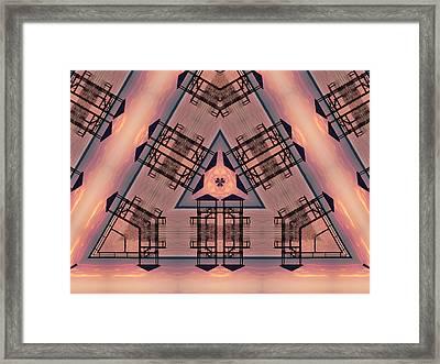 Pink Pier Kaleidoscope One Framed Print