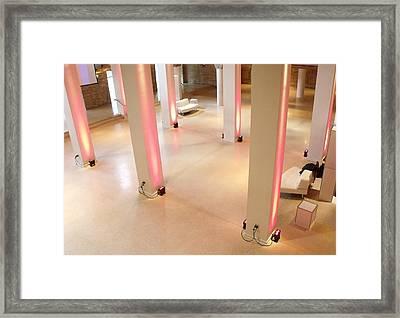 Pink Pillars I Framed Print by Anna Villarreal Garbis