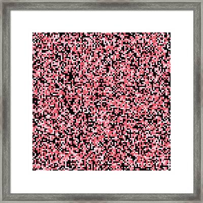 Pink Pixels Framed Print by Mike Taylor