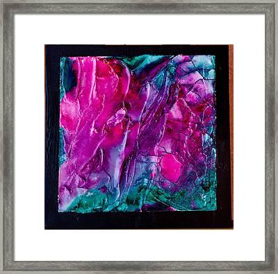 Pink Polinator Framed Print