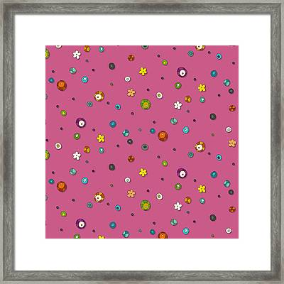 Pink Pop Flower Spot Framed Print by Sharon Turner