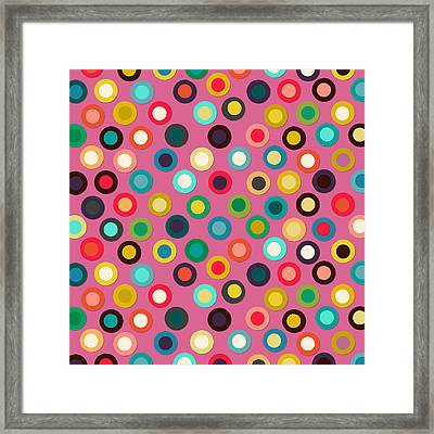 Pink Pop Spot Framed Print by Sharon Turner