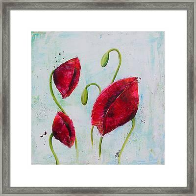 Pink Poppies 1 Framed Print by Bitten Kari
