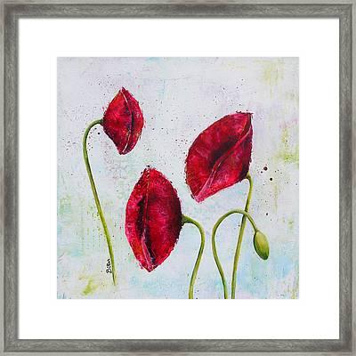 Pink Poppies 2 Framed Print by Bitten Kari