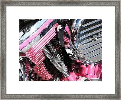 Pink Power Framed Print by Samuel Sheats