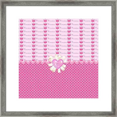 Pink Princess Crowns Framed Print