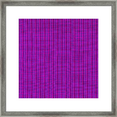 Pink Purple And Black Striped Textile Background Framed Print