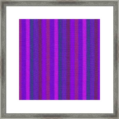 Pink Purple And Blue Striped Textile Background Framed Print