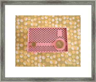 Pink Radio Bubbles Framed Print by Sonja Quintero