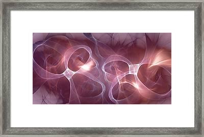Pink Ribbons Framed Print