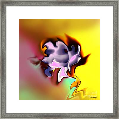 Pink Rose Ancient Sort Framed Print by Christian Simonian