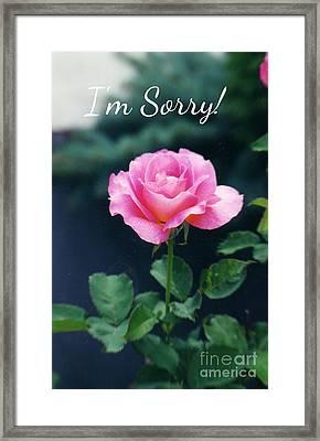 Pink Rose Greeting Card Framed Print by Ellen Stanton