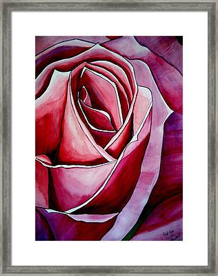 Pink Rose Macro Framed Print by Sacha Grossel