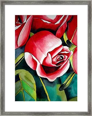 Pink Rosebud Framed Print by Sacha Grossel