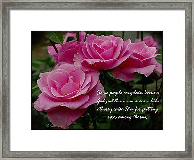 Roses And Thorns Framed Print