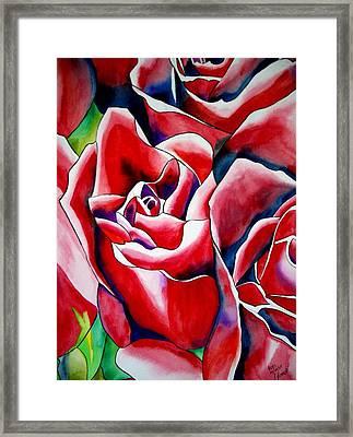 Pink Roses Framed Print by Sacha Grossel