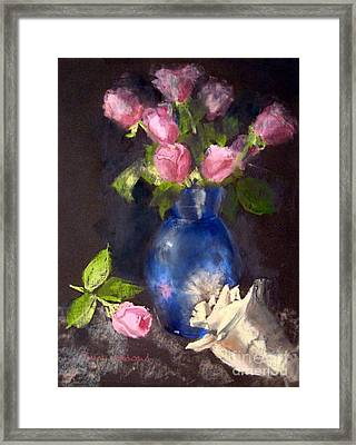 Pink Roses Framed Print by Susan Woodward