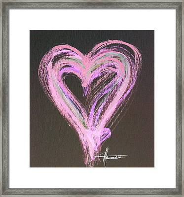 Pink Rules Framed Print
