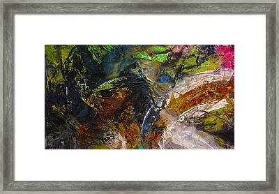 Pink Rust Green  Framed Print by Andrada Anghel