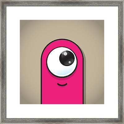 Pink Framed Print by Samuel Whitton