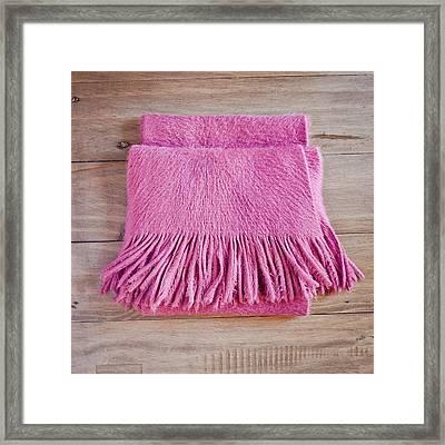 Pink Scarf Framed Print