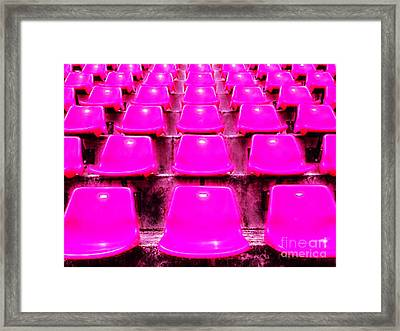 Pink Seats Framed Print by Michael Knight