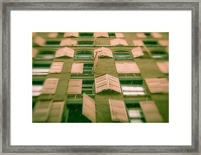 Pink Shutters Framed Print by Takeshi Okada