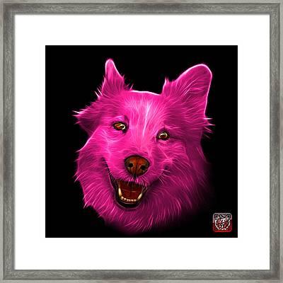 Pink Siberian Husky Mix Dog Pop Art - 5060 Bb Framed Print by James Ahn