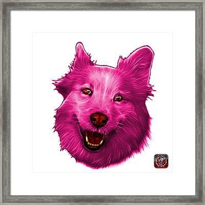 Pink Siberian Husky Mix Dog Pop Art - 5060 Wb Framed Print by James Ahn