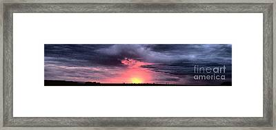 Pink Skies In Stanhope Framed Print by Garren Zanker