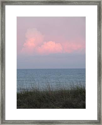 Pink Sky Framed Print by Cheryl Smith