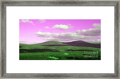 Pink Sky Framed Print by Jo Collins