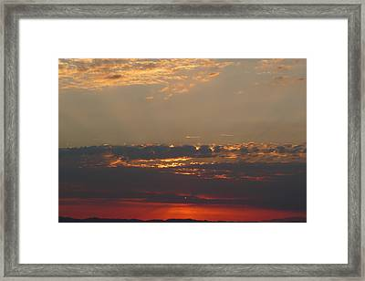 Pink Sky Framed Print by Nora Boghossian