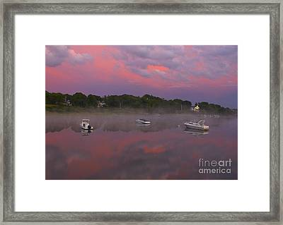 Pink Sky Reflection Framed Print by Amazing Jules